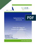 NASCIO Award Proposal - Cyber Virginia Fighting Election Fraud