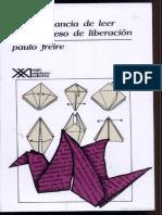 La Importancia de Leer y El Proceso de Liberación - Paulo Freire