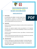 Bases Regional Norte Escolar Impar- Sede Piura / 28, 29 y 30 de JUNIO
