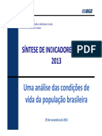 Condições de Vida Da População Brasileira - IBGE OK