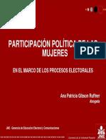 Participacion Politica de Las Mujeres en Los Proceso Electorales