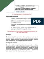 Pasos Generales de La Investigacion y Metodologia de la investigación