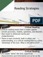 1. Critical Reading Strategies