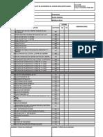 Check List de Accesorios de Camion Grua Articulado