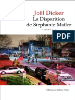 Dicker Joel La Disparition de Stephanie Mailer