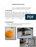 Determinación de Acido Citrico