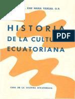 Historia de La Cultura Ecuatoriana LIBRO