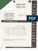 NSX-S22 Service Manual
