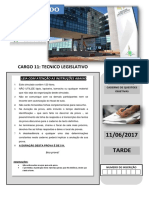Caderno de Questoes - Cargo 11 Tecnico Legislativo