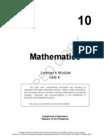 Math Grade 10 Answer Key