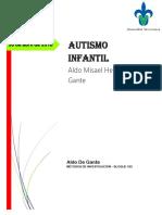 Autismo, protocolo de investigación