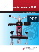 Hydrajaws Model 2000 Manual Espanol