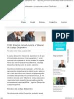STJD- Entenda Como Funciona o Tribunal de Justiça Desportiva - Jurídico Certo Blog