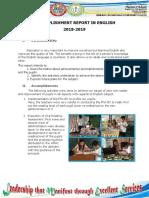 Lumbang Na Matanda Es Accomplishment Report in English