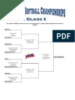 2019 Class 1 Softball Bracket