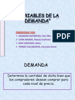 Variables de Demanda