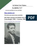 Siete Poemas de Rafael José Muñoz