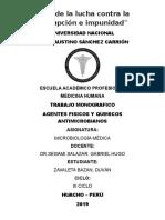 Agentes Fisicos y Quimicos Antimicrobianos