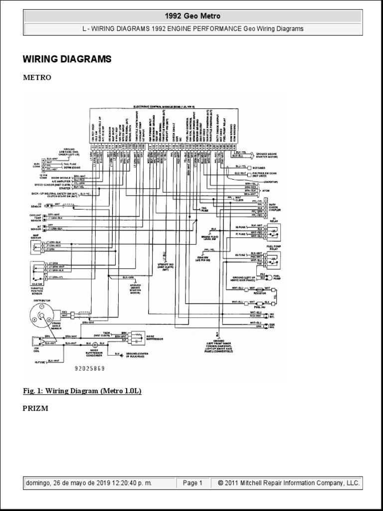 [SCHEMA] 91 Geo Metro Engine Diagram Html Full HD Quality
