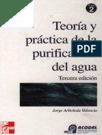 Arboleda Curva Demanda de Cloro - Teoría y Práctica de La Purificación Del Agua, Tomo 2