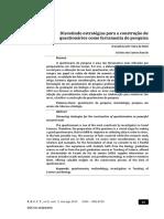 MELO BIANCHIN 2015 Discutindo Estrategias Para a Construcao de Questionarios Como Ferramenta de Pesquisa