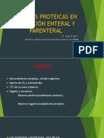 Fuentes Proteicas en Nutrición Enteral y Parenteral