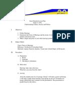 Lesson Plan- Cot 3