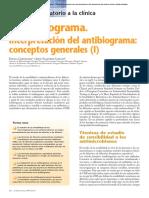 antibiograma en la parte de Microbiología