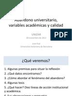 Absentismo Universitario y Condiciones Académicas Rué1