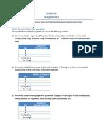Assignment 2 Worksheet