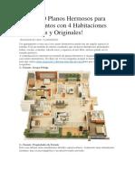 50 Planos 3D de 4 Dormitorios