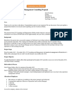 Management Consulting Proposal