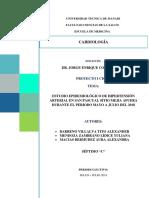 ESTUDIO EPIDEMIOLÓGICO DE HIPERTENSIÓN ARTERIAL EN SAN PASCUAL SITIO MEJIA AFUERA DURANTE EL PERIODO MAYO A JULIO DEL 2018