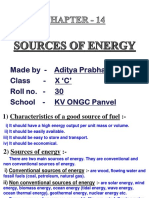 Sources of Energy Aditya Prabhakar
