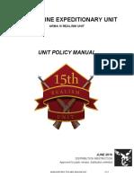 15th MEU Unit Policy Manual