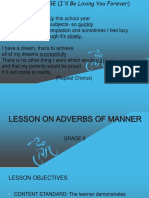 Lesson on Adverb of Manner
