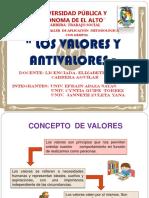 Los Valores y Anti Valores