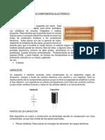 Caracteristicas de Los Componentes Electrónicos