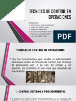 Tecnicas de Control en Operaciones