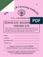 Duplicate Registration Certificate