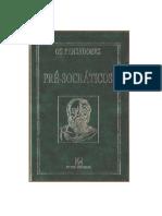 Pré-Socráticos (Os Pensadores)