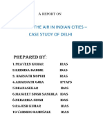 Cleaning Air of Indian Cities - Case Study of Delhi