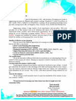 Bangalore Seminar Letter