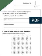 French Weekend Worksheet - 2