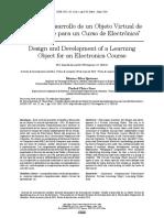 Diseño y Desarrollo de un Objeto Virtual de Aprendizaje para un Curso de Electrónica