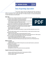 Database Reporting Specialist JD