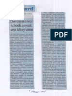 Manila Standard, June 4, 2019, Overpasses near schools a must, says Albay solon.pdf