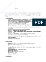 Manual Testing Automation Testing 3 Years Experience Resume