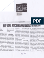Philippine Daily Inquirer, June 4, 2019, House OKs bill protecting human rights workers of final reading.pdf