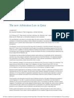 New Arbitration Law in Qatar